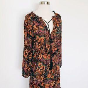 H&M | Autumn Floral Maxi Long Sleeve Dress